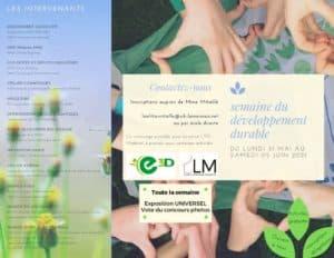 thumbnail of programme semaine du développement durable